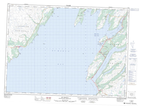 001K13 St Mary s Canadian topographic map, 1:50,000 scale