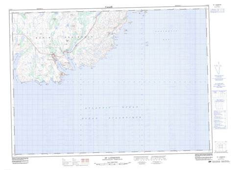 001L14 St Lawrence Canadian topographic map, 1:50,000 scale