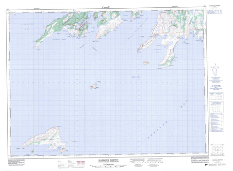 001M05 Harbour Breton Canadian topographic map, 1:50,000 scale