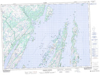 001M09 Harbour Buffett Canadian topographic map, 1:50,000 scale