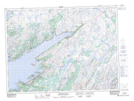 001M10 Terrenceville Canadian topographic map, 1:50,000 scale