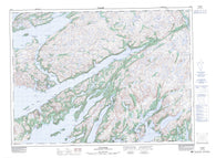 001M12 Gaultois Canadian topographic map, 1:50,000 scale