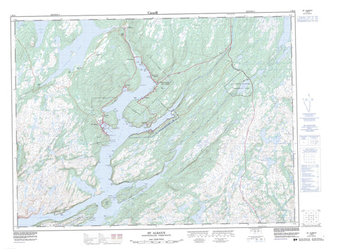 001M13 St Alban s Canadian topographic map, 1:50,000 scale