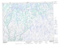 001M14 Hungry Grove Pond Canadian topographic map, 1:50,000 scale