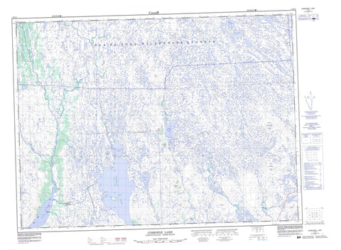 001M15 Gisborne Lake Canadian topographic map, 1:50,000 scale