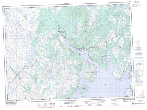 001M16 Sound Island Canadian topographic map, 1:50,000 scale