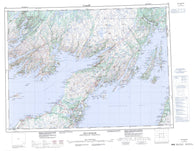 001M Belleoram Canadian topographic map, 1:250,000 scale