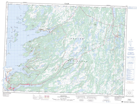 001N05 Argentia Canadian topographic map, 1:50,000 scale