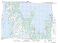 001N12 Dildo Canadian topographic map, 1:50,000 scale