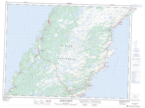 001N14 Heart s Content Canadian topographic map, 1:50,000 scale