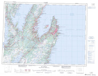 001N St John s Canadian topographic map, 1:250,000 scale