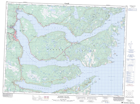 002C04 Random Island Canadian topographic map, 1:50,000 scale