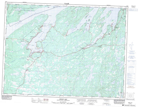 002C05 Sweet Bay Canadian topographic map, 1:50,000 scale