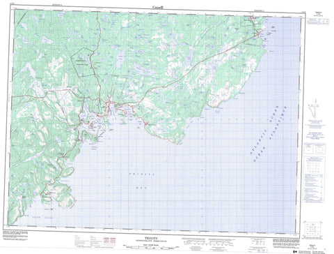 002C06 Trinity Canadian topographic map, 1:50,000 scale