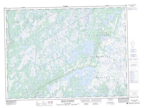 002D03 Mount Sylvester Canadian topographic map, 1:50,000 scale
