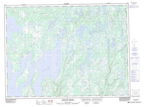 002D04 Twillick Brook Canadian topographic map, 1:50,000 scale