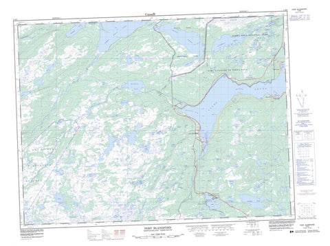 002D08 Port Blandford Canadian topographic map, 1:50,000 scale