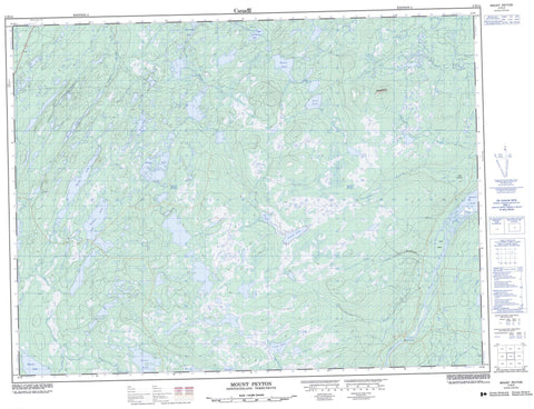 002D14 Mount Peyton Canadian topographic map, 1:50,000 scale