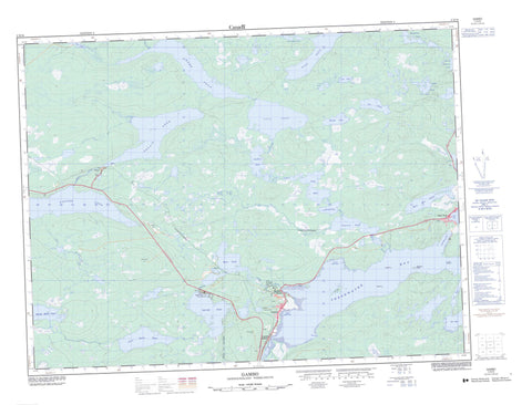 002D16 Gambo Canadian topographic map, 1:50,000 scale