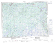 002D Gander Lake Canadian topographic map, 1:250,000 scale