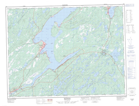 002E03 Botwood Canadian topographic map, 1:50,000 scale