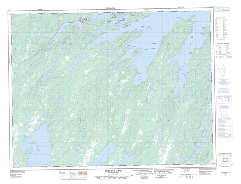 002E05 Robert s Arm Canadian topographic map, 1:50,000 scale
