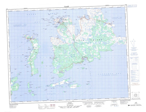 002E09 Fogo Canadian topographic map, 1:50,000 scale