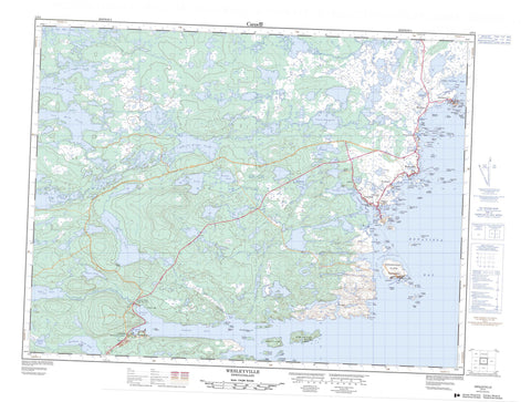 002F04 Wesleyville Canadian topographic map, 1:50,000 scale