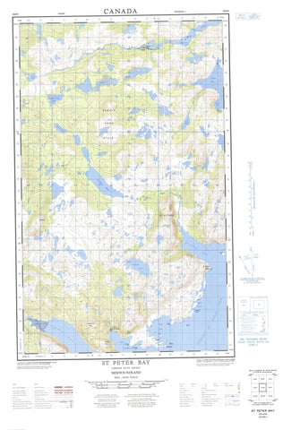 003D04W St Peter Bay Canadian topographic map, 1:50,000 scale