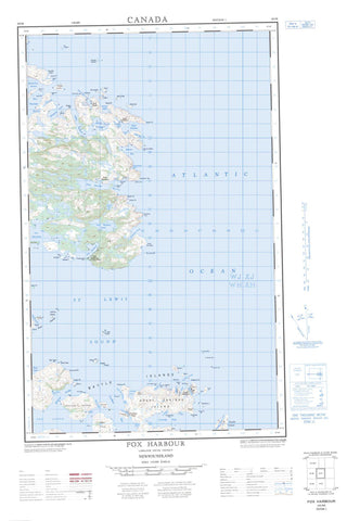 003D05E Fox Harbour Canadian topographic map, 1:50,000 scale