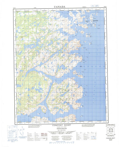 003E04 Comfort Bight Canadian topographic map, 1:50,000 scale