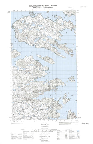 003E05W Batteau Canadian topographic map, 1:50,000 scale