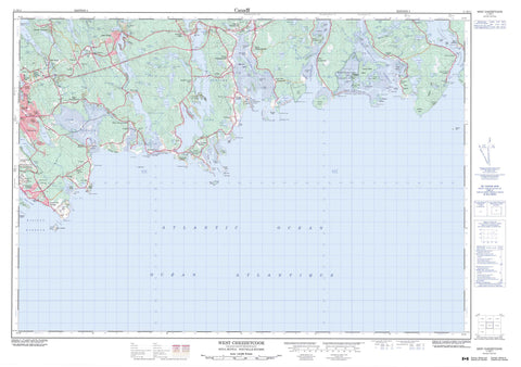 011D11 West Chezzetcook Canadian topographic map, 1:50,000 scale