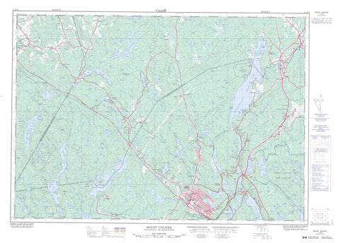 011D13 Mount Uniacke Canadian topographic map, 1:50,000 scale