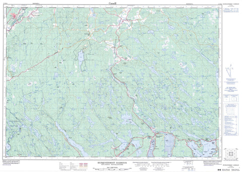 011D14 Musquodoboit Harbour Canadian topographic map, 1:50,000 scale