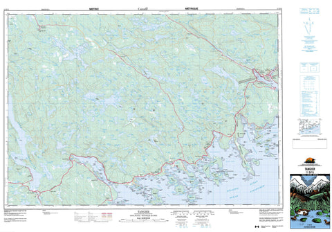 011D15 Tangier Canadian topographic map, 1:50,000 scale