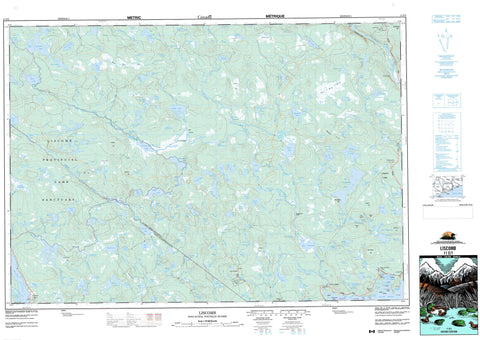 011E01 Liscomb Canadian topographic map, 1:50,000 scale