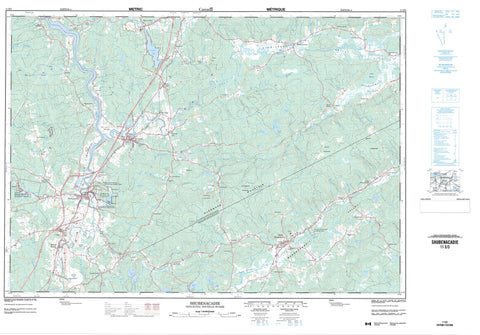 011E03 Shubenacadie Canadian topographic map, 1:50,000 scale
