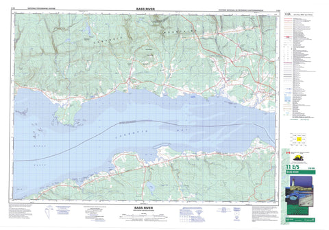 011E05 Bass River Canadian topographic map, 1:50,000 scale
