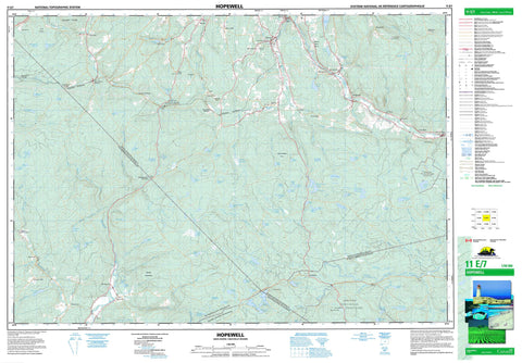 011E07 Hopewell Canadian topographic map, 1:50,000 scale