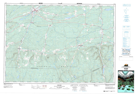 011E12 Oxford Canadian topographic map, 1:50,000 scale