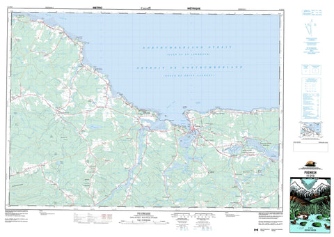 011E13 Pugwash Canadian topographic map, 1:50,000 scale