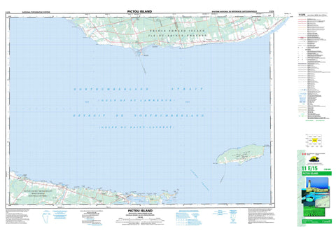 011E15 Pictou Island Canadian topographic map, 1:50,000 scale