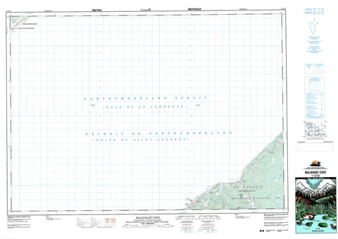 011E16 Malignant Cove Canadian topographic map, 1:50,000 scale