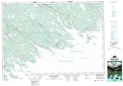011F04 Country Harbour Canadian topographic map, 1:50,000 scale