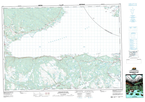011F06 Chedabucto Bay Canadian topographic map, 1:50,000 scale