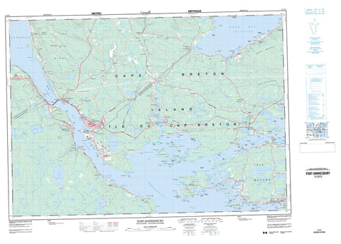011F11 Port Hawkesbury Canadian topographic map, 1:50,000 scale