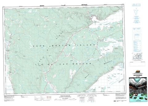 011F14 Whycocomagh Canadian topographic map, 1:50,000 scale
