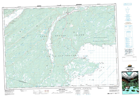011F16 Mira River Canadian topographic map, 1:50,000 scale