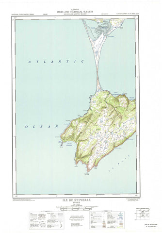 011I16W Ile De St Pierre Canadian topographic map, 1:50,000 scale